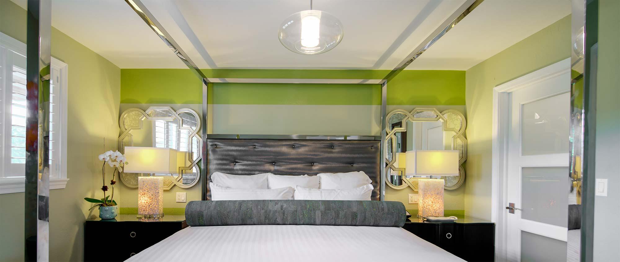 Luxury Villa Bedroom with King Bed.