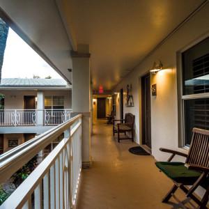 North Side Second Floor Walkway