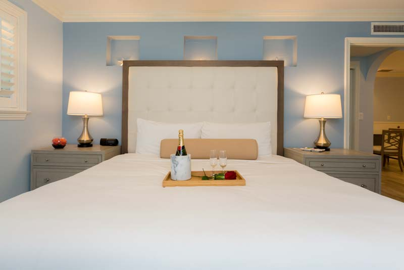 One Bedroom Suite Bedroom with King Bed.
